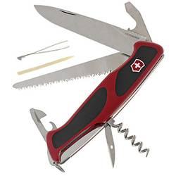 Švajčiarsky vreckový nožík Victorinox RangerGrip 55 0.9563.C, červená, čierna