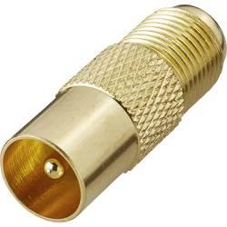 SAT / anténny adaptér RENKFORCE F zásuvka - anténna zástrčka 75 Ω, pozlátená
