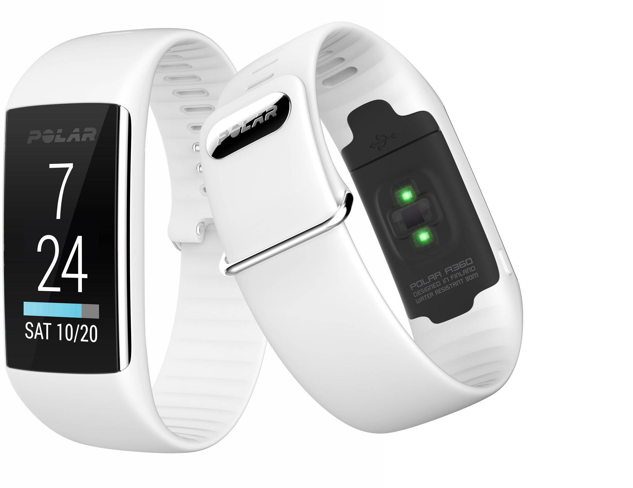 Fitness hodinky s integrovaným senzorom Polar A360 White, veľkosť: S, biela