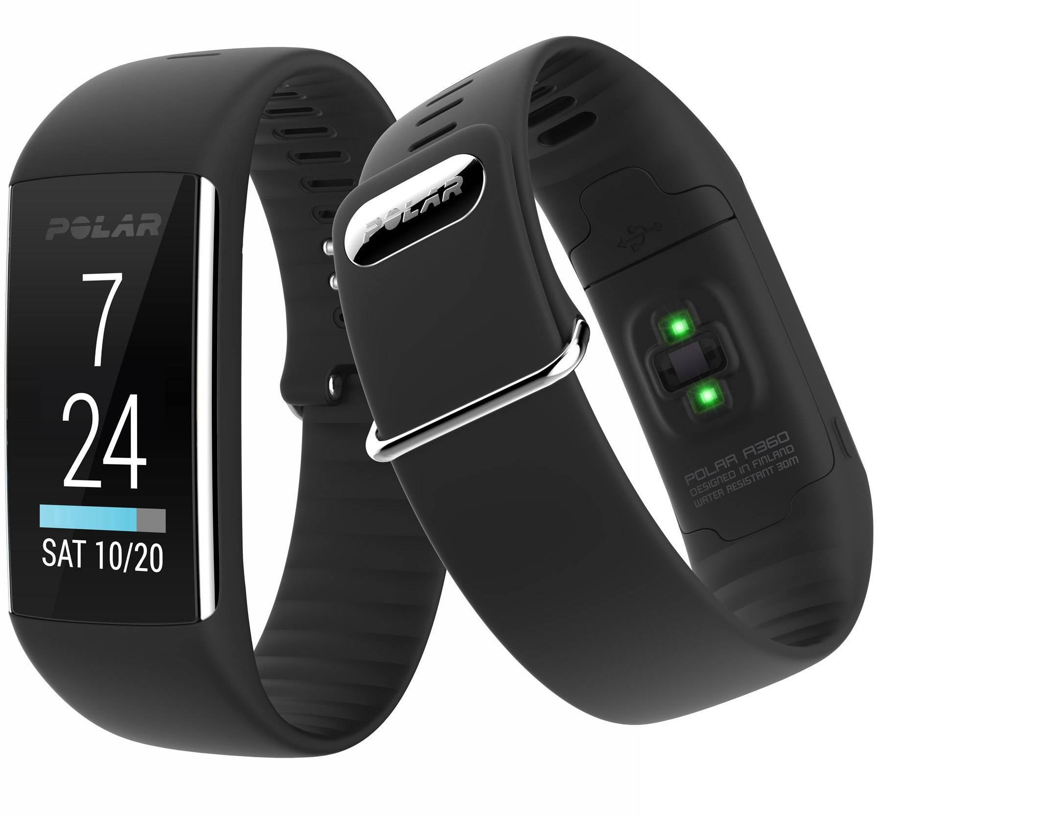 Fitness hodinky s integrovaným senzorom Polar A360 Black, veľkosť: L, čierna