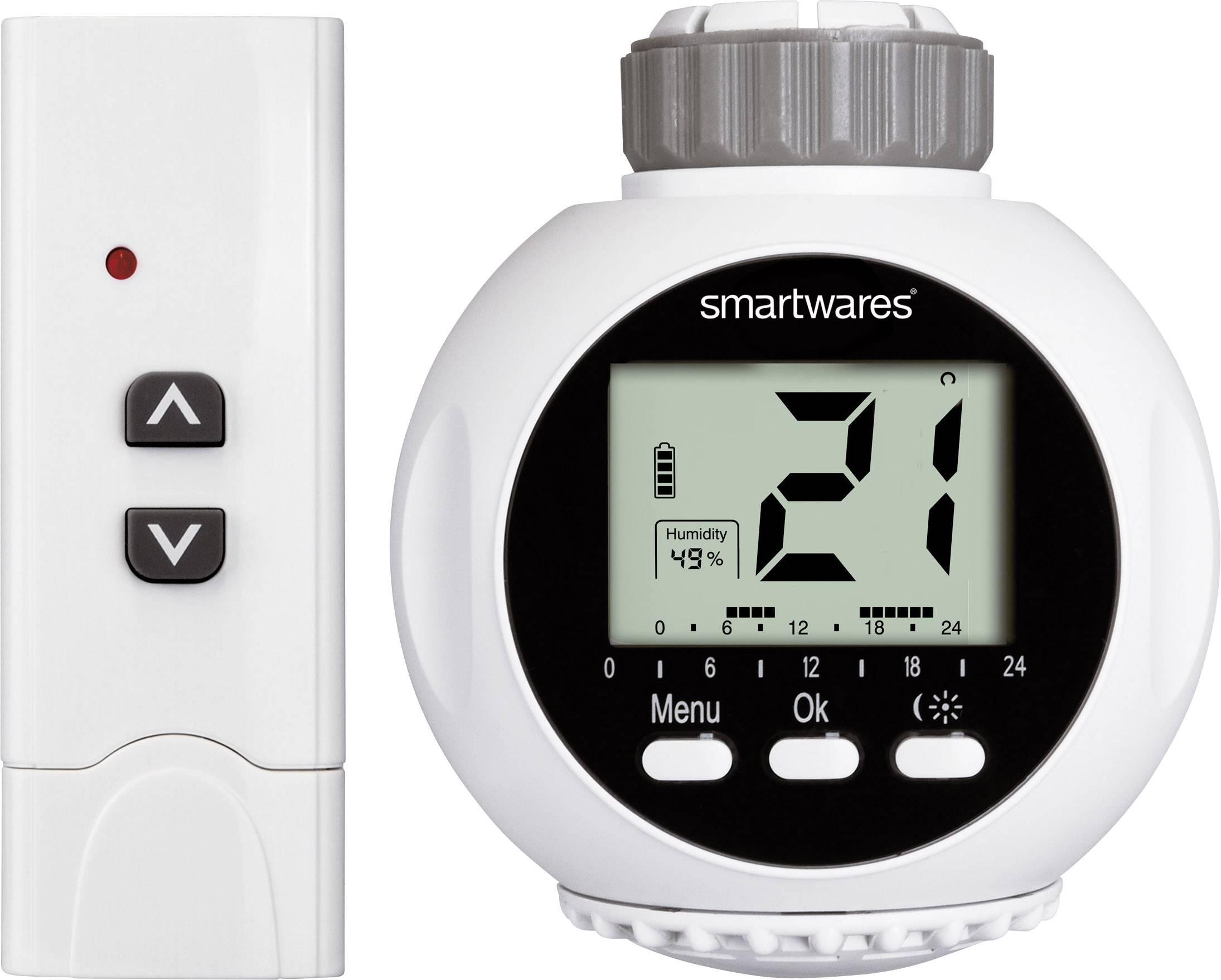 Bezdrôtoví termostatatická hlavica na radiátor s diaľk. ovládačom Smartwares SHS-53000
