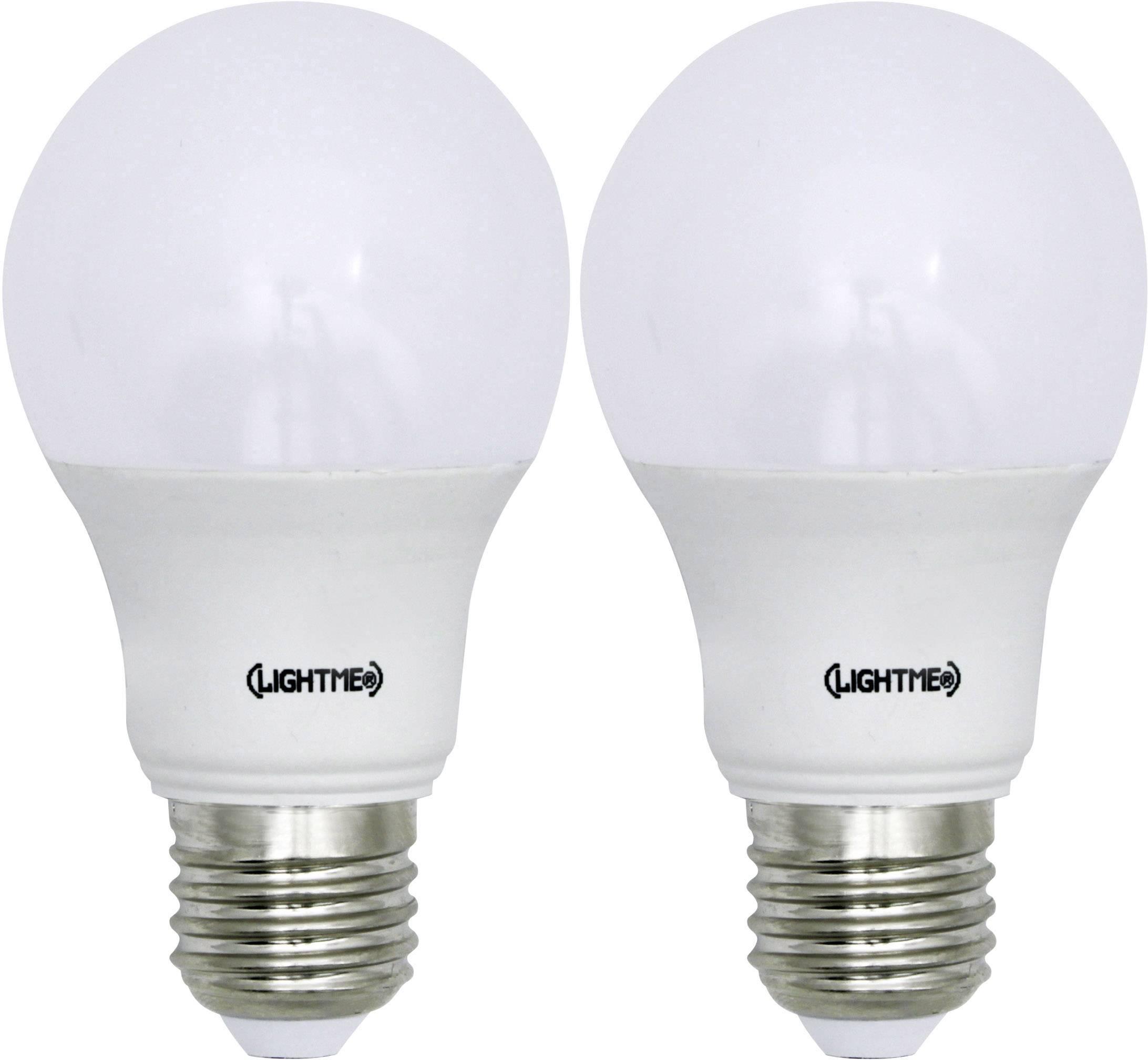 LED žiarovka LightMe 5bSA-A806ST-Q1 230 V, 8.5 W = 60 W, teplá biela, A+, 2 ks
