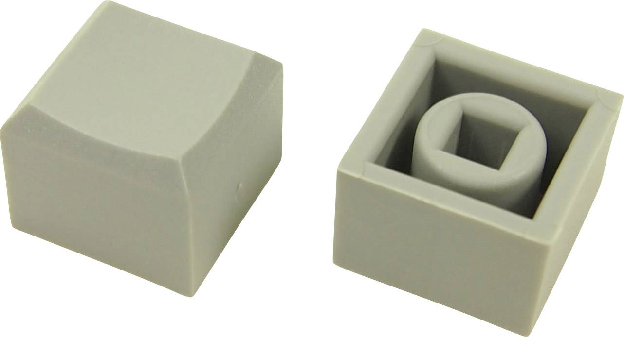 Tlačítko Cliff CP3427, (d x š x v) 12.2 x 12.2 x 10 mm, šedá, 1 ks