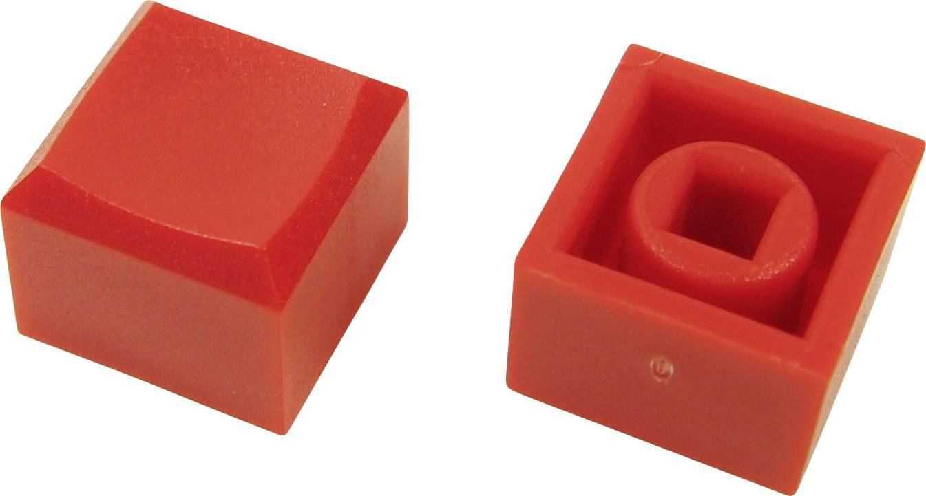 Tlačítko Cliff CP3431, (d x š x v) 12.2 x 12.2 x 10 mm, červená, 1 ks