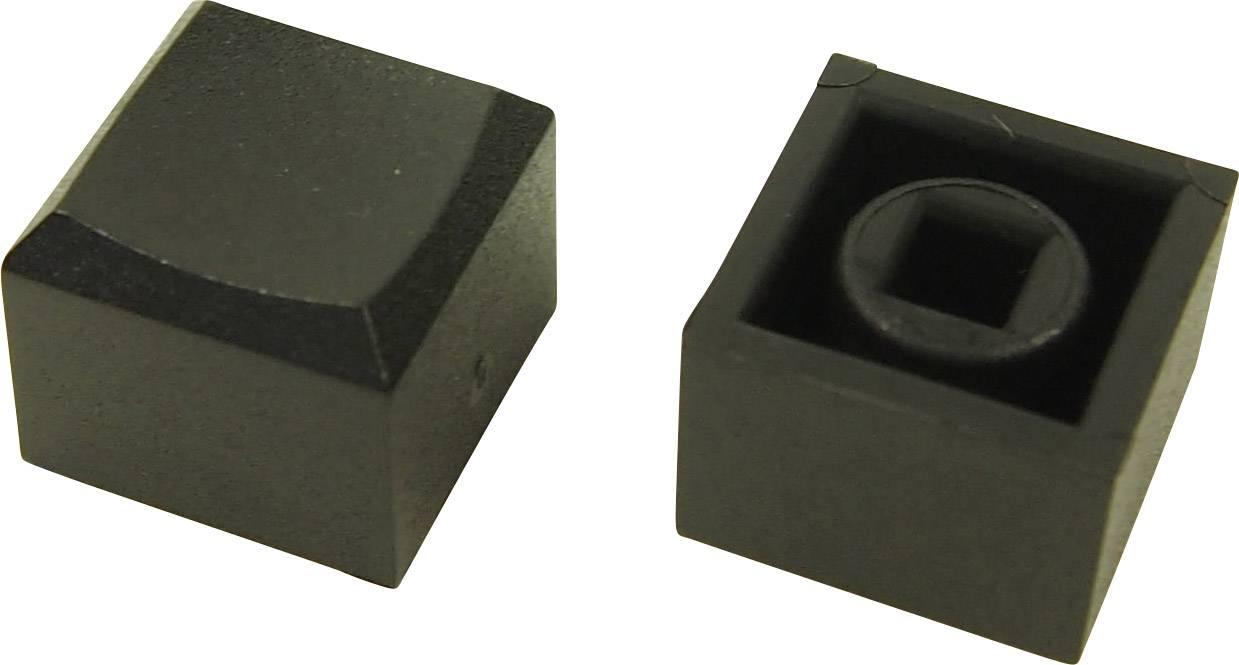 Tlačítko Cliff CP3433, (d x š x v) 12.2 x 12.2 x 10 mm, černá, 1 ks