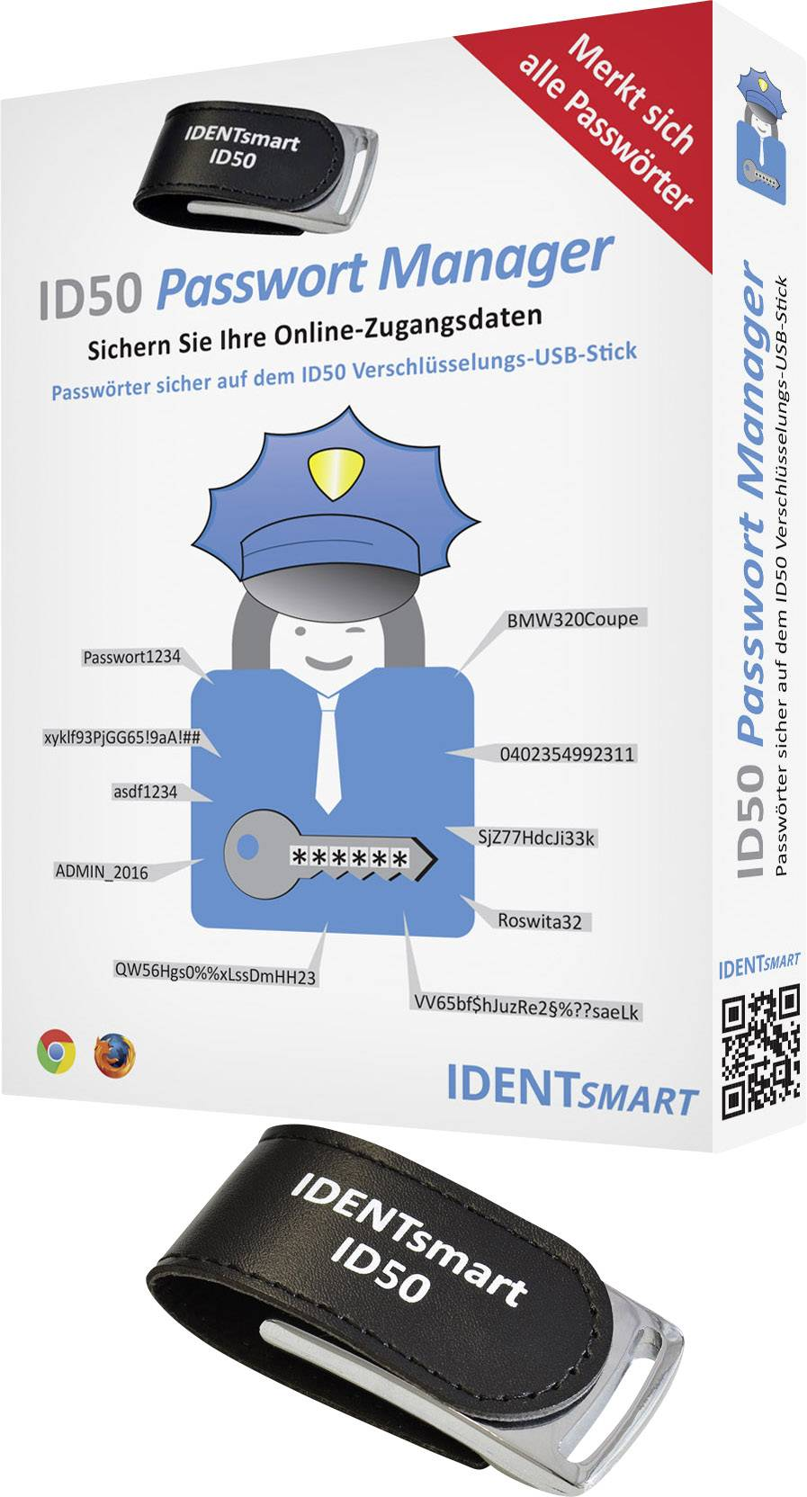 Manažér hesiel Identos ID50 Password Safe TOP SECRET
