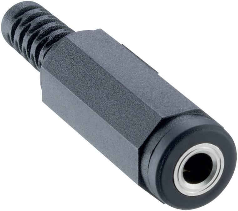 Jack konektor 3.5 mm stereo zásuvka, rovná Lumberg 1520 01, počet pinov: 3, čierna, 1 ks