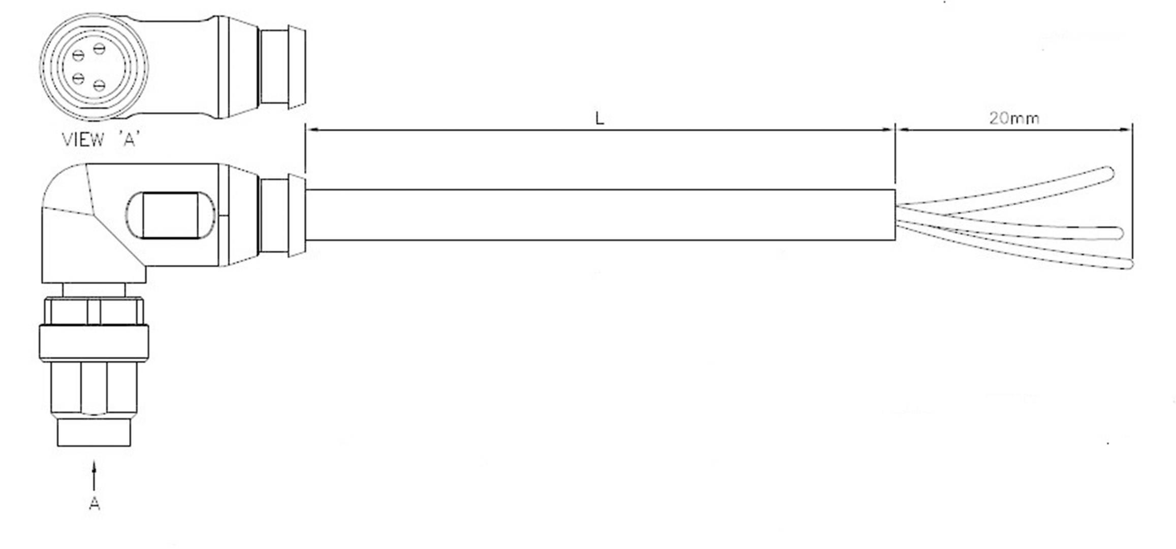 Upravený zástrčkový konektor pro senzory - aktory TE Connectivity 2273008-3, 1 ks