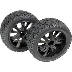 Kompletné kolesá Absima 2500013 pre buggy, 104 mm, 1:10, 1 ks, čierna