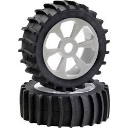 Kompletné kolesá Absima 2520017 pre buggy, 118 mm, 1:8, 1 ks, biela