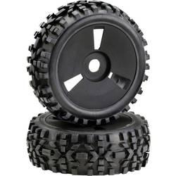 Kompletné kolesá Absima 2520018 pre buggy, 117 mm, 1:8, 1 ks, čierna
