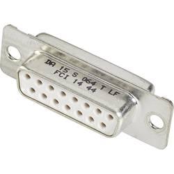 D-SUB zásuvková lišta FCI D-SUB, 180 °, Počet pinov 9, spájkovaný, 1 ks