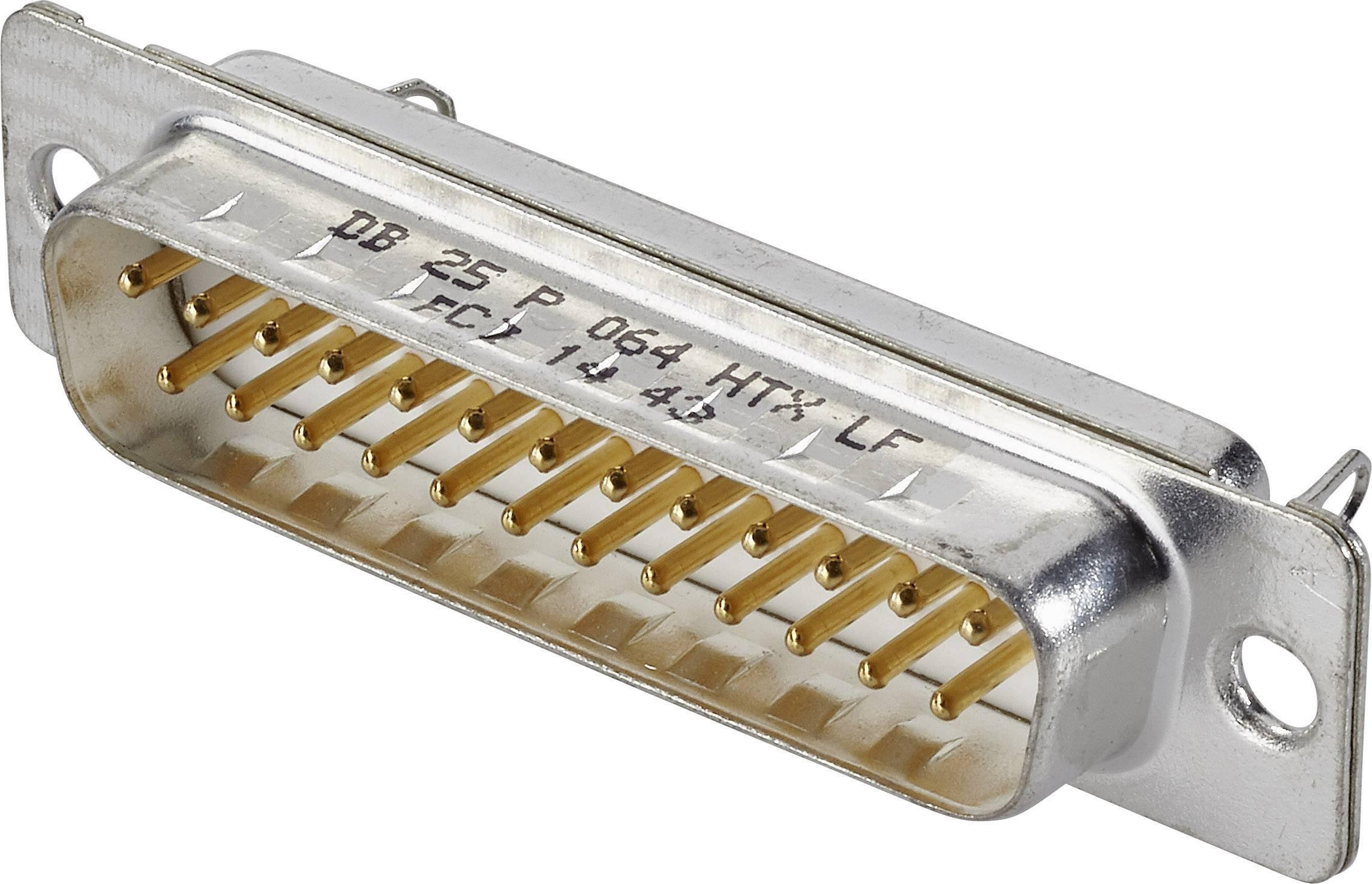 D-SUB kolíková lišta FCI D-SUB, 180 °, Počet pinov 25, spájkovaný, 1 ks