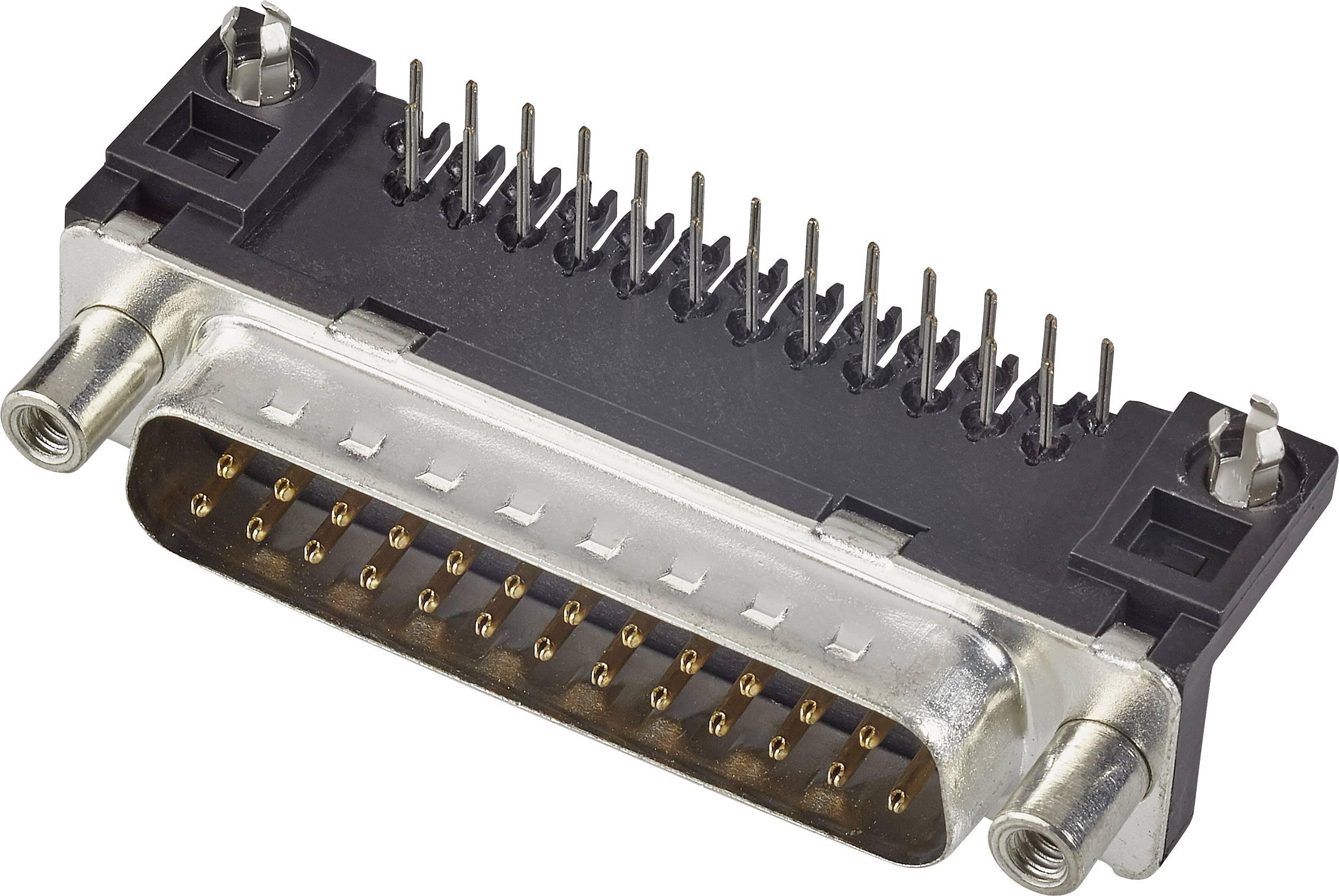 D-SUB zásuvková lišta FCI D-SUB, 90 °, počet pinov 37, tlačené, 1 ks