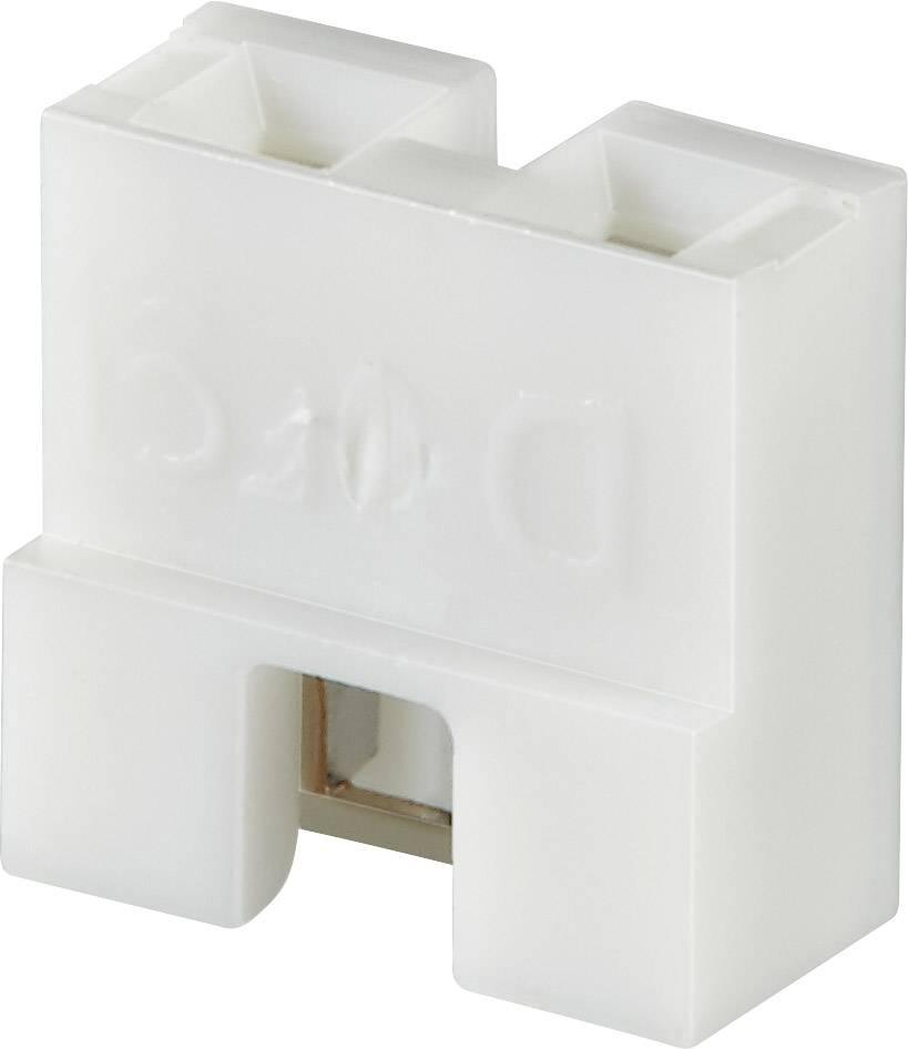 Zkratovací můstek FCI Dubox / PV / Bergstik, Rastr (rozteč): 2.54 mm, bílá, 1 ks