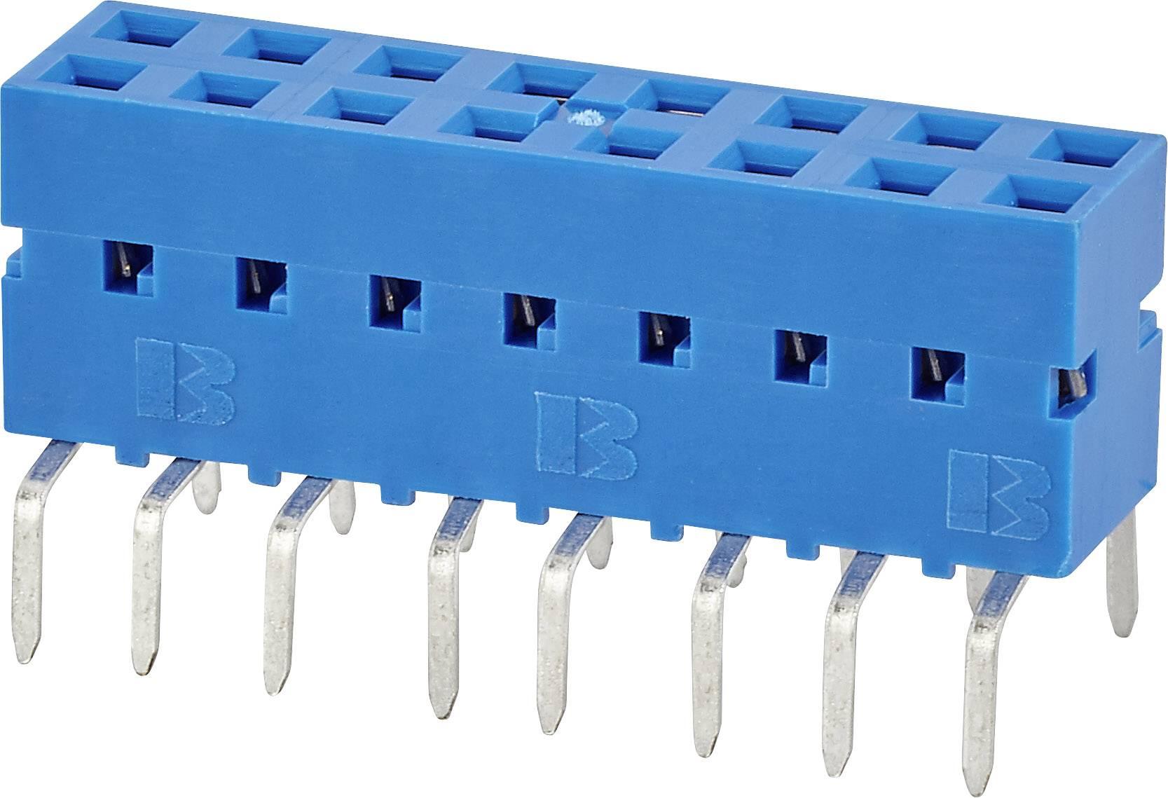 Zásuvková lišta FCI 55510-106TRLF, počet kontaktů v řadě: 3, 1 ks