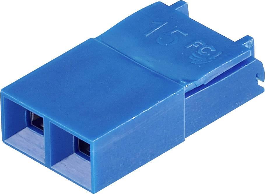 Zkratovací můstek FCI Dubox / PV / Bergstik, Rastr (rozteč): 2.54 mm, modrá, 1 ks