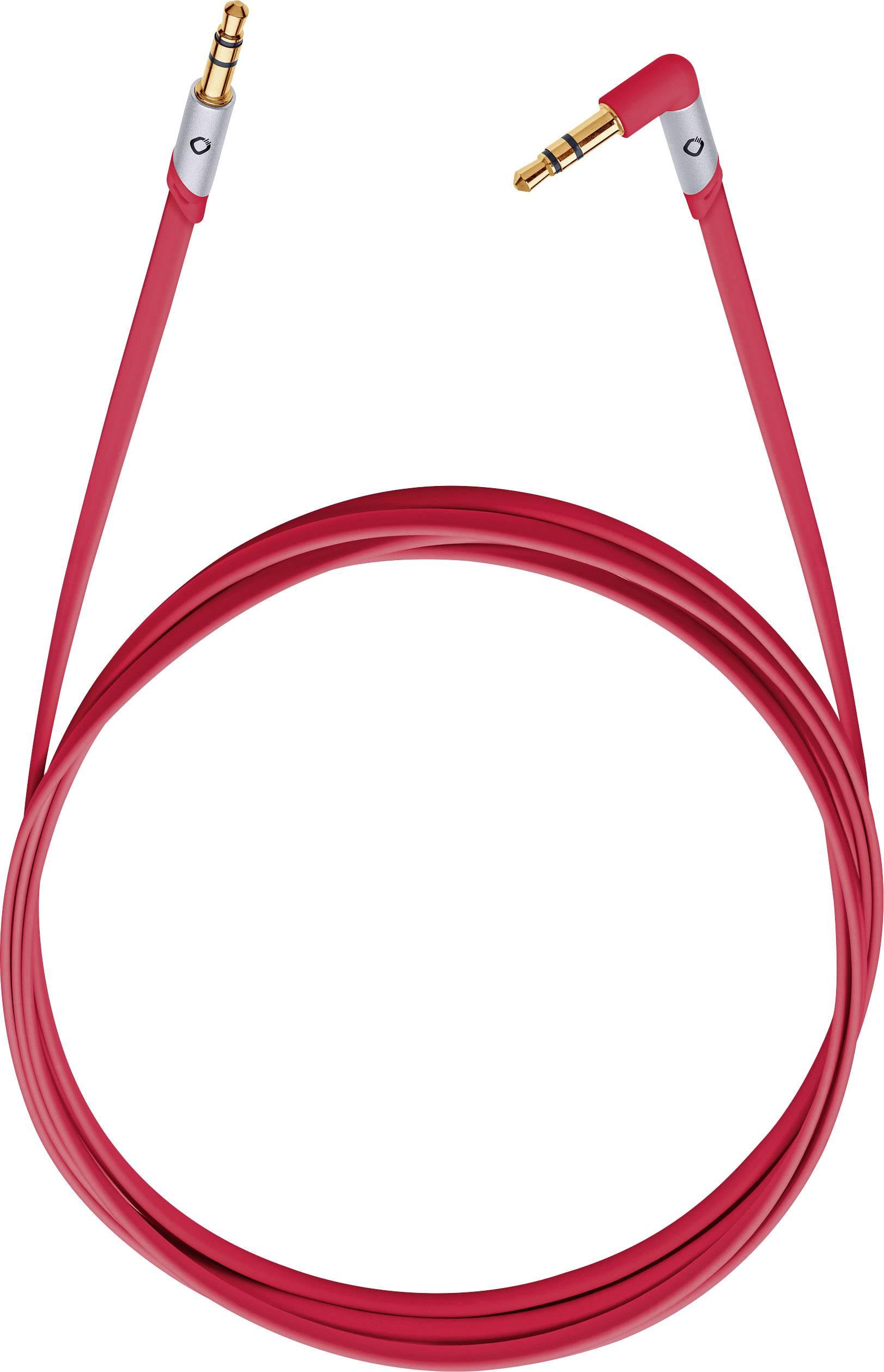 Jack audio prepojovací kábel Oehlbach iJack 35 35005, 1.50 m, červená
