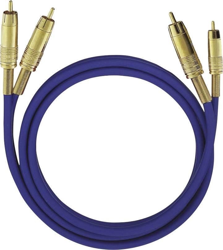 Cinch audio prepojovací kábel Oehlbach 2028, 0.50 m, čierna