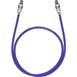 Toslink digitálny audio prepojovací kábel Oehlbach 1380, [1x Toslink zástrčka (ODT) - 1x Toslink zástrčka (ODT)], 0.50 m, modrá