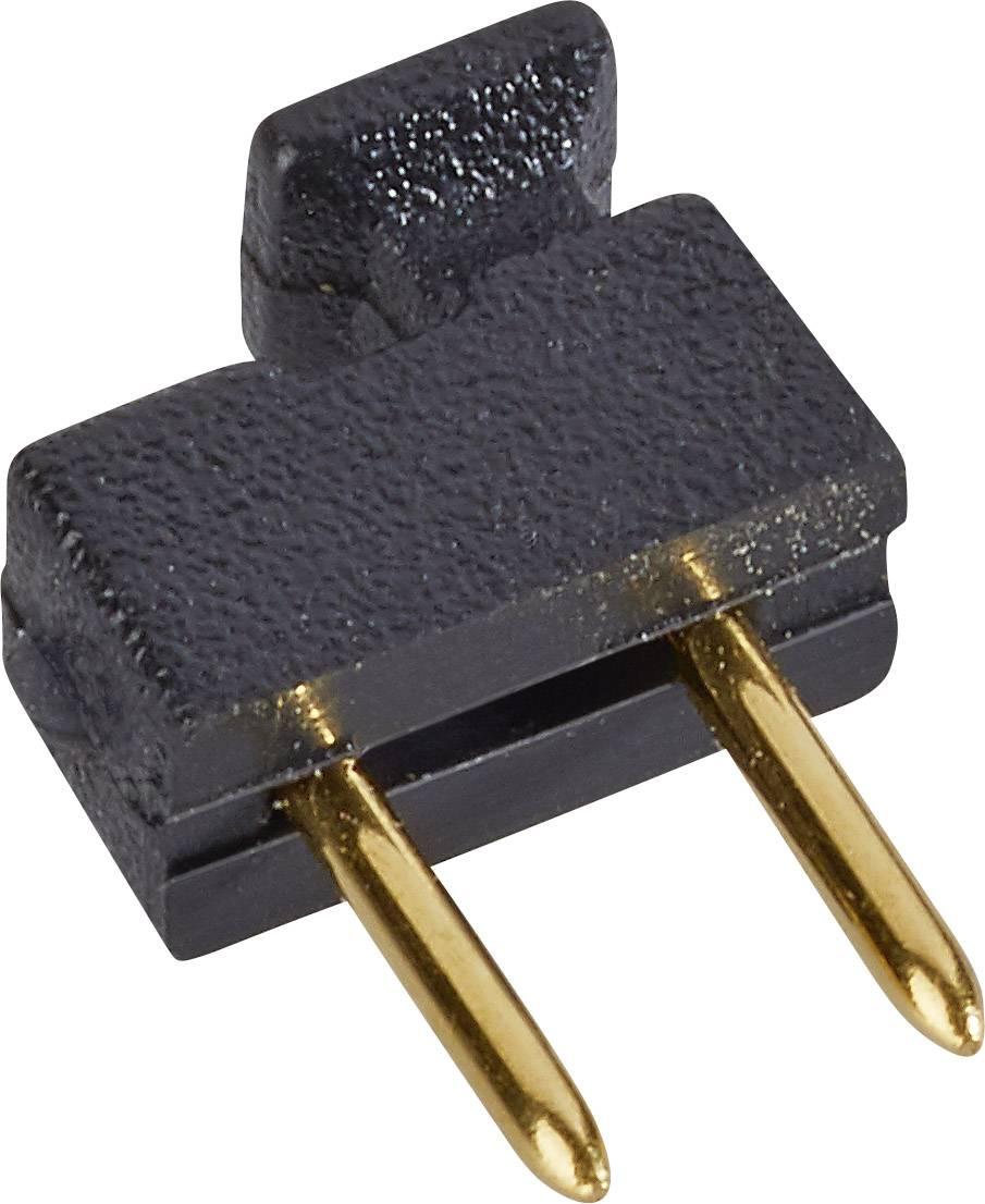 Zkratovací můstek W & P Products 166-10-10-1, Rastr (rozteč): 2.54 mm, stříbrná, černá, 1 ks