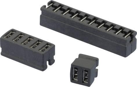 Zkratovací můstek W & P Products 361-02-10-00, Rastr (rozteč): 2 mm, černá, 1 ks