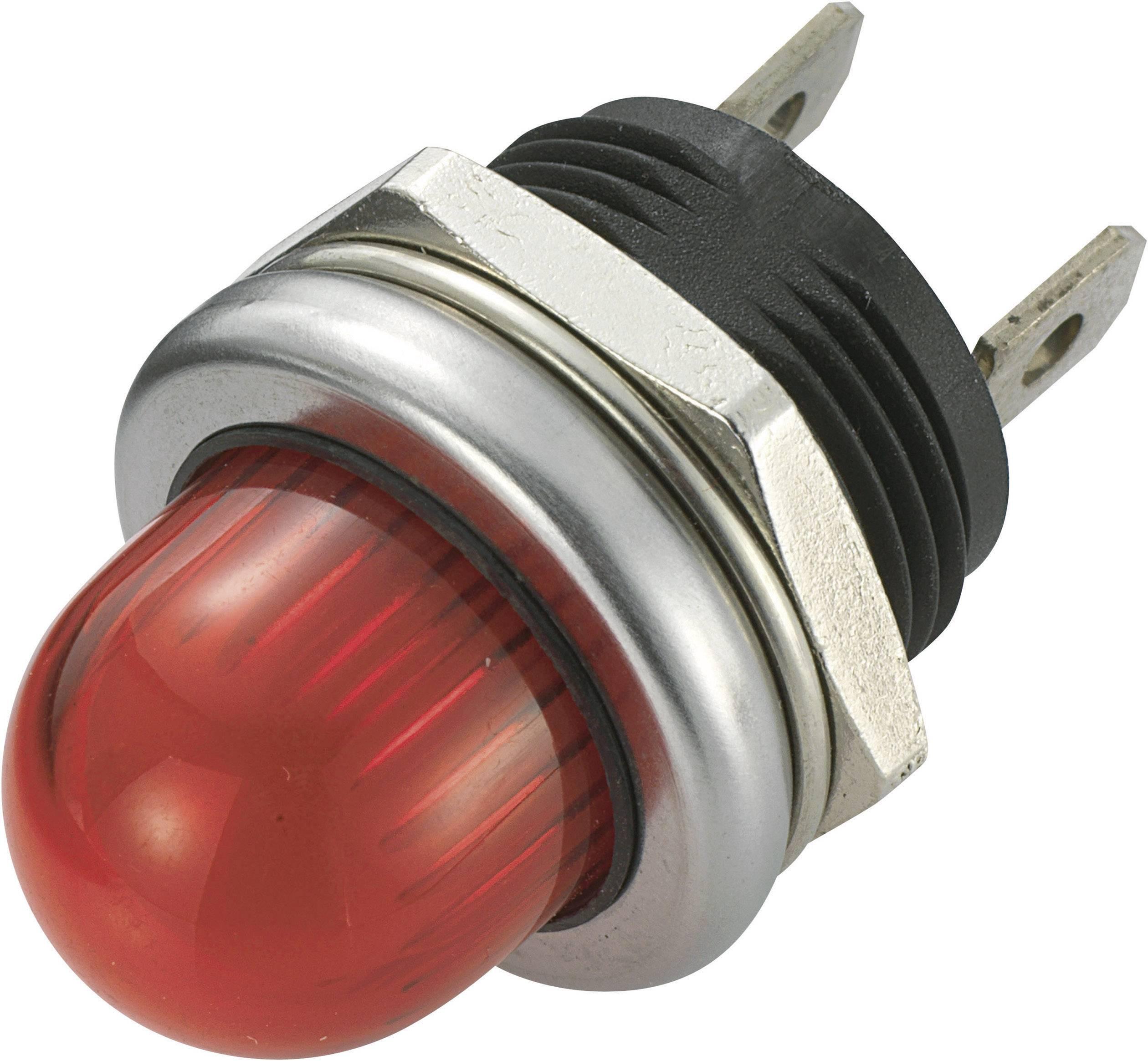 LED signálka SCI R9-105L1-02-WRR4, 12 V/DC, červená