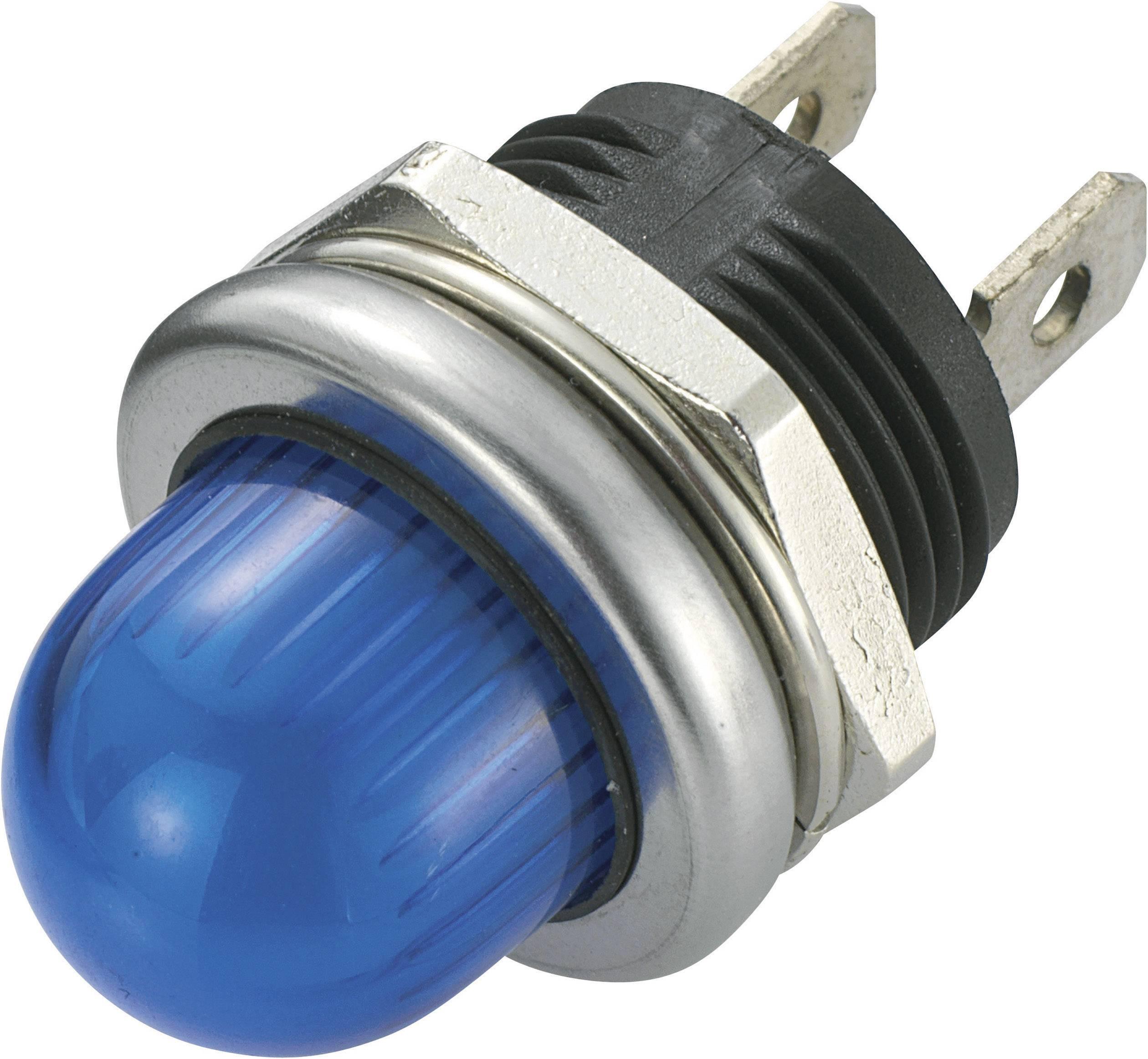 LED signálka SCI R9-105L1-02-WUU4, 12 V/DC, modrá