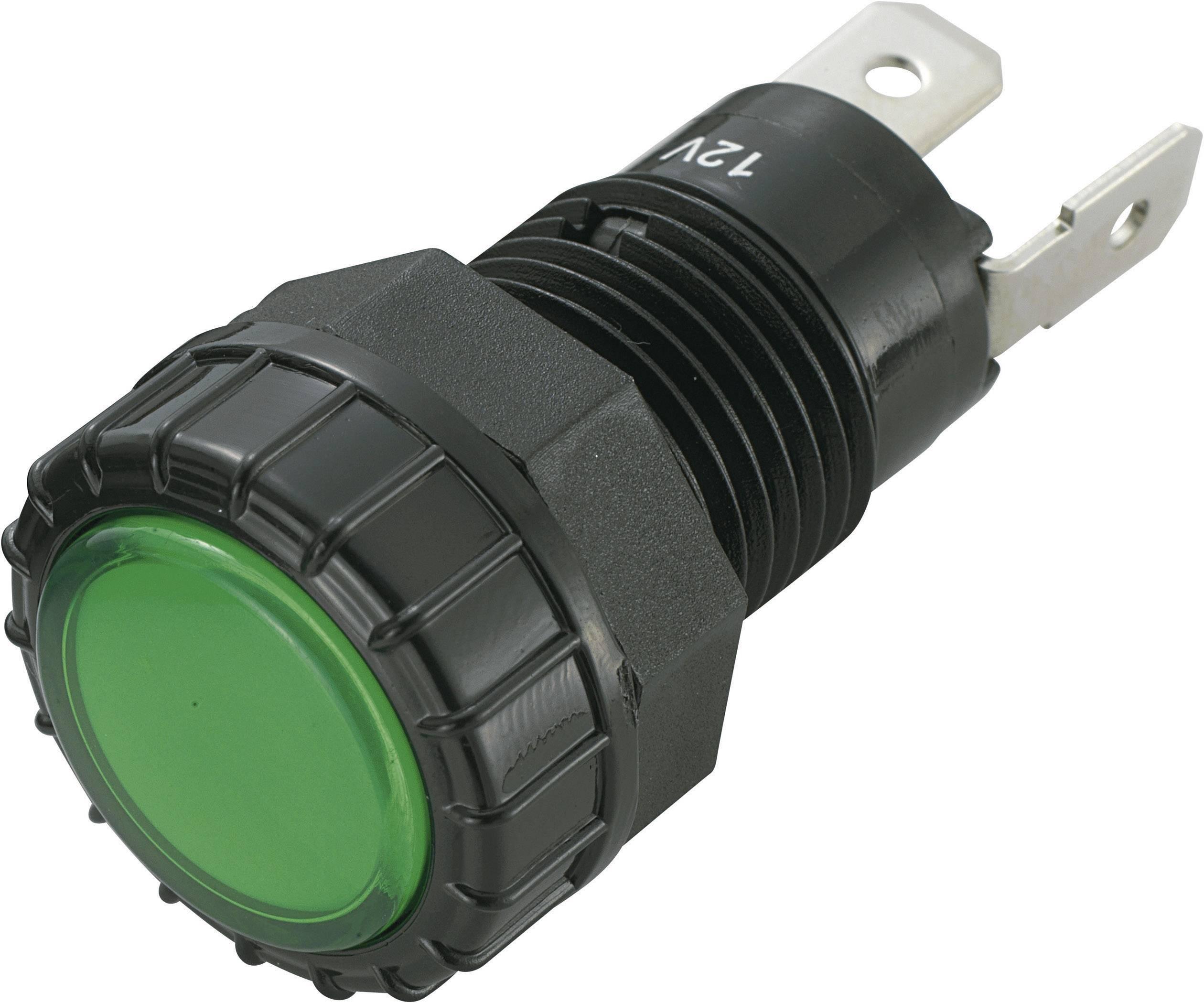 IndikačnéLED SCI R9-122L1-01-BGG4, 12 V/DC, zelená