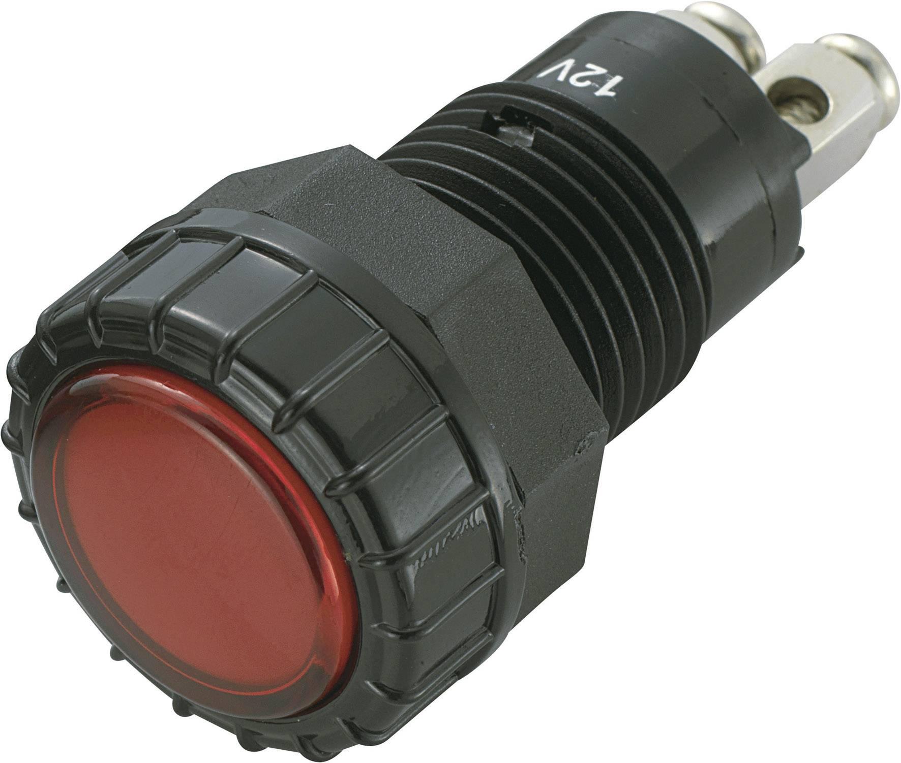 IndikačnéLED SCI R9-122L1-06-BRR4, 12 V/DC, červená