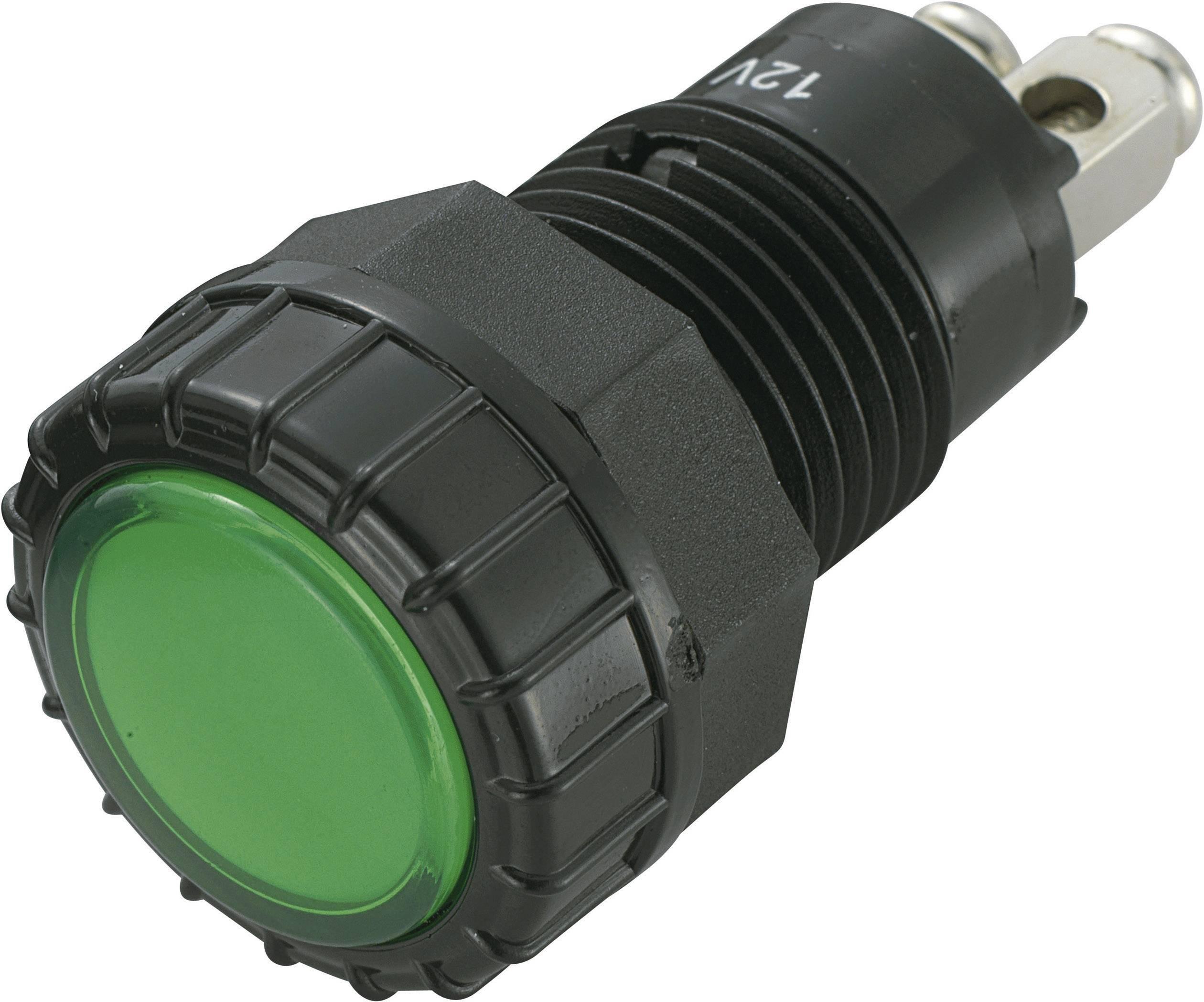 IndikačnéLED SCI R9-122L1-06-BGG4, 12 V/DC, zelená