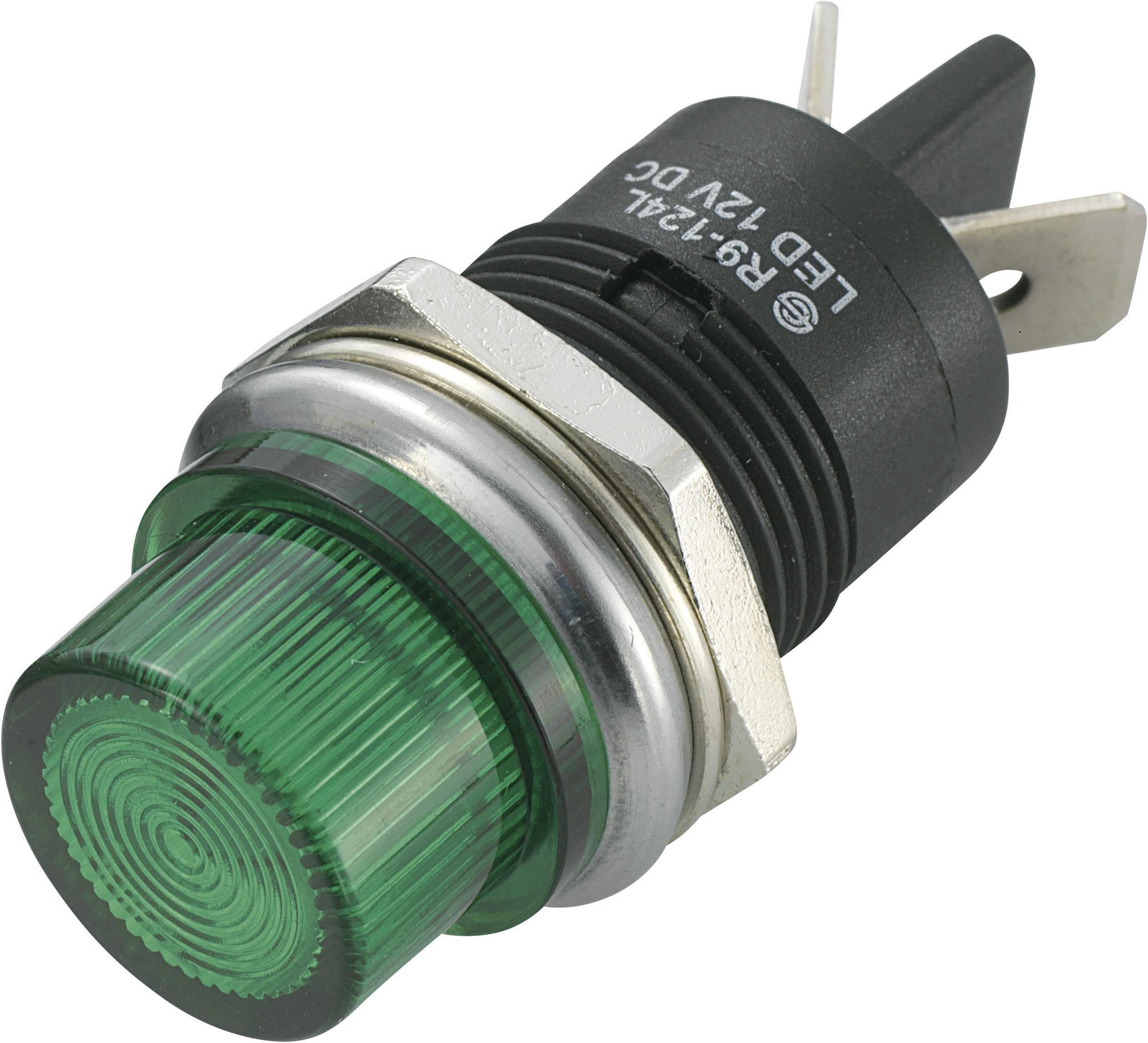 LED signálka SCI R9-124LB1-01-BGG4, LED signálka 20 mm, 12 V/DC, zelená
