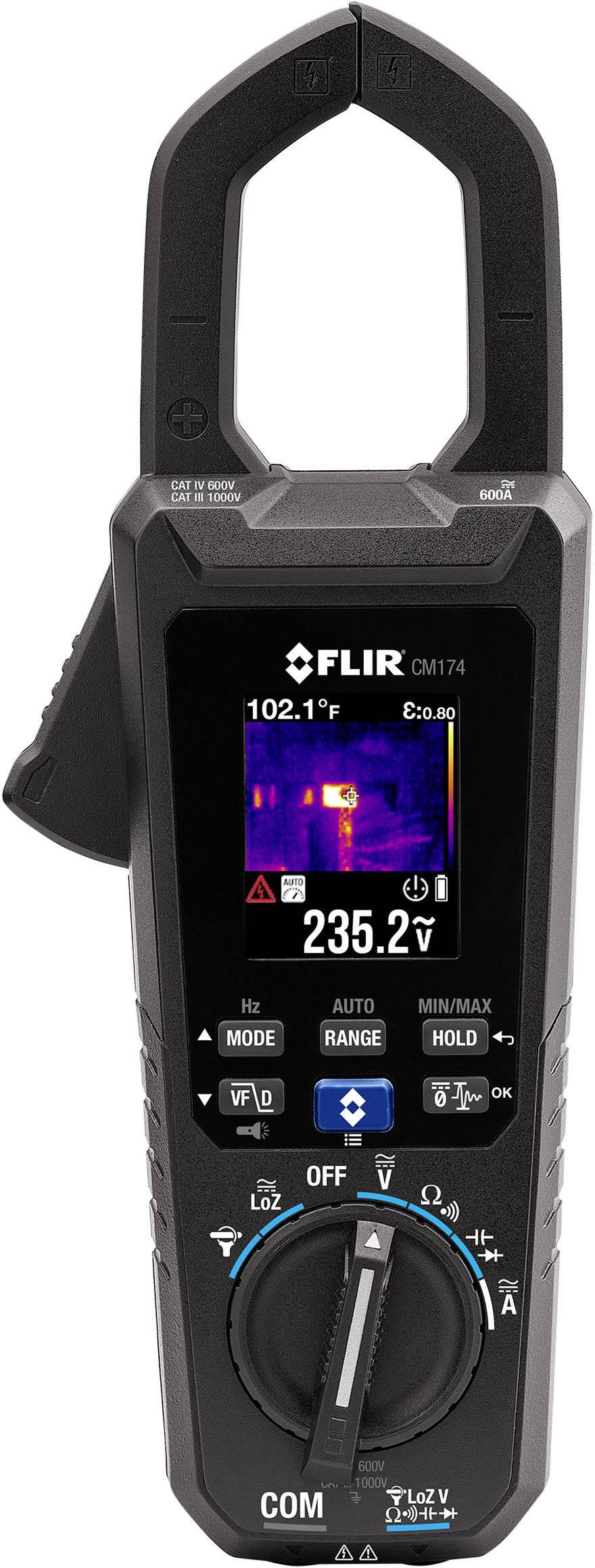 Proudové kleště digitální FLIR CM174 CAT III 1000 V, CAT IV 600 V Displej (counts): 6000