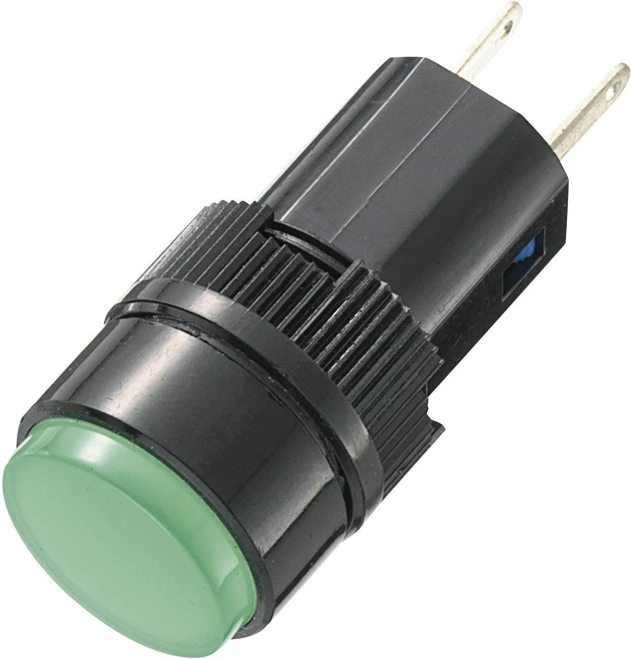 LED signálka AD16-16A/12V/G, 12 V/DC / 12 V/AC, zelená