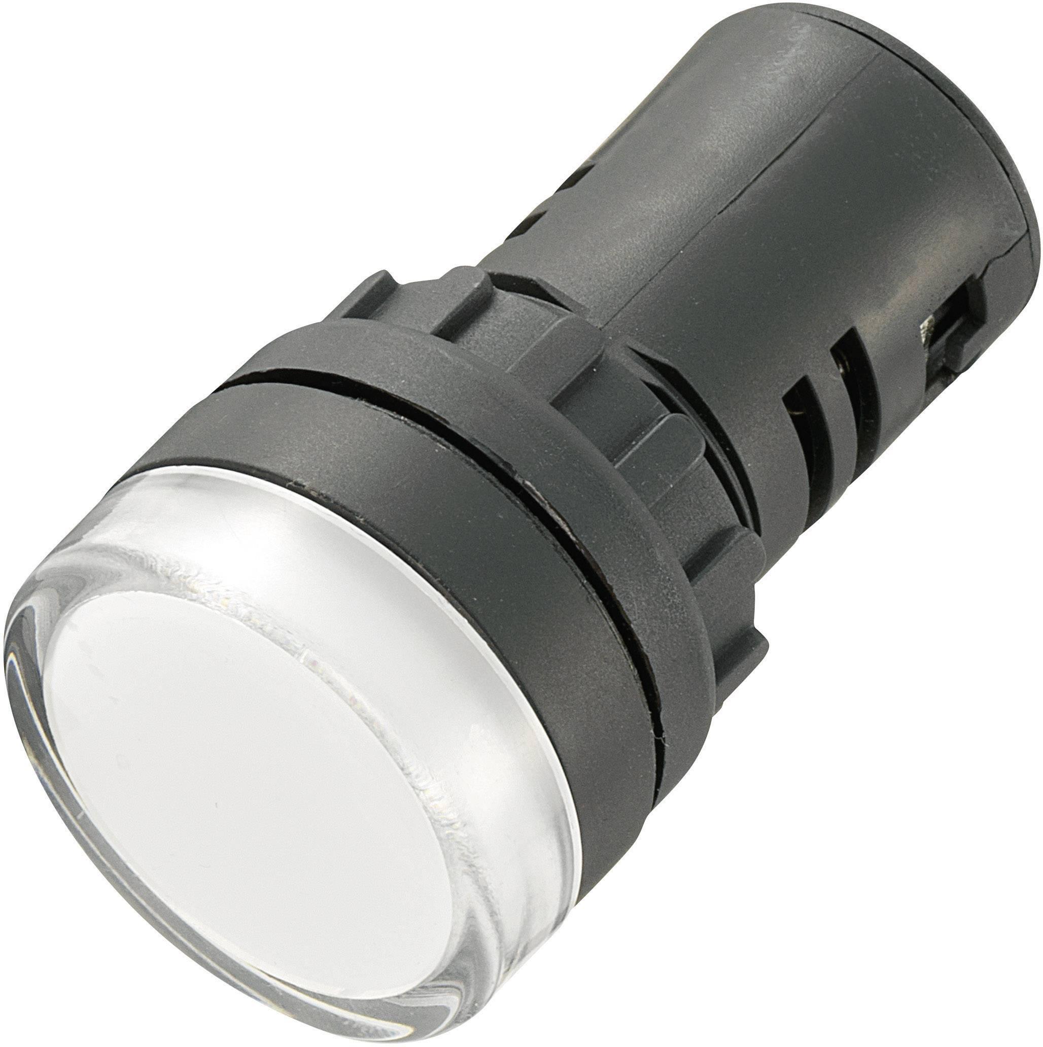 LED signálka AD16-22DS/12V/W, 12 V/DC / 12 V/AC, bílá