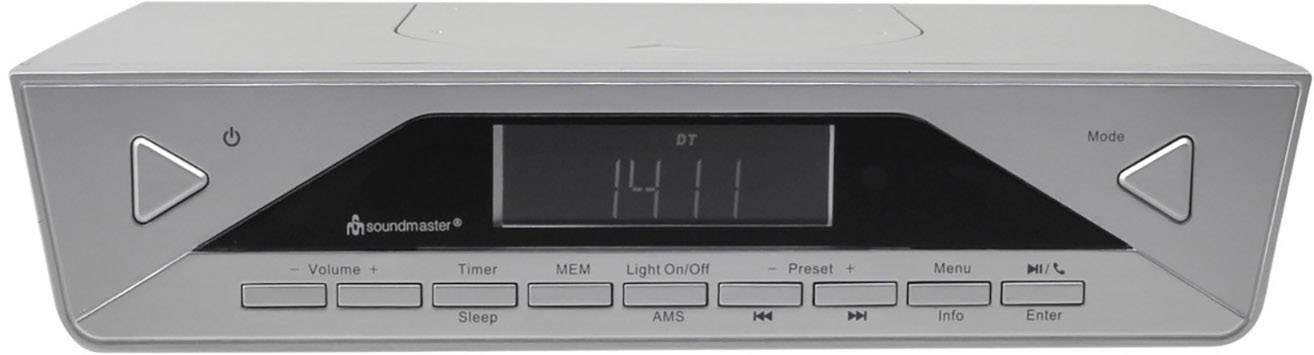 DAB+ kuchyňské rádio, závěsné SoundMaster UR2040SI Bluetooth stříbrná