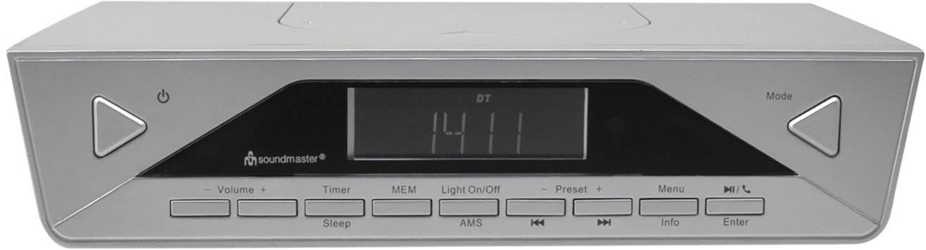 DAB+ kuchynské závesné rádio Soundmaster UR2040SI, Bluetooth, strieborná