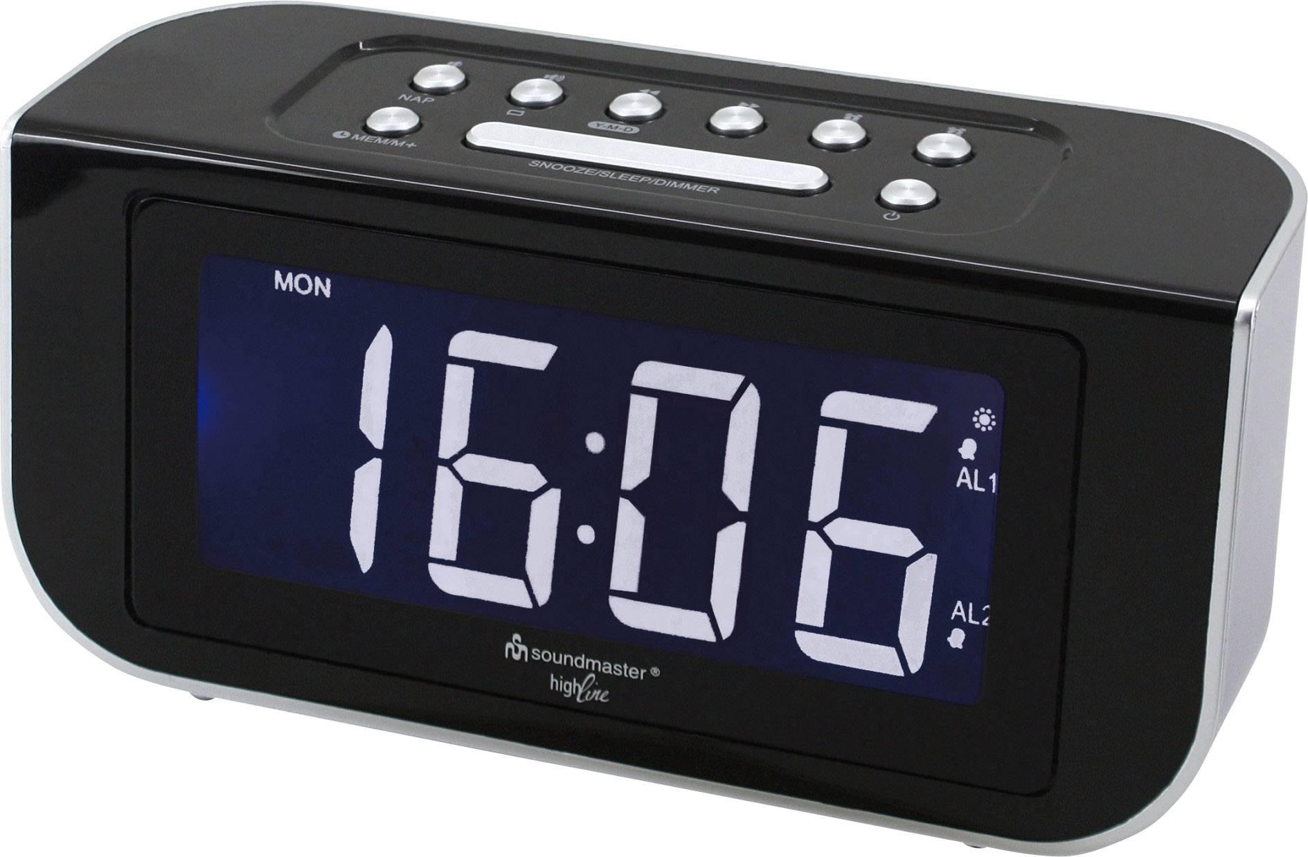 FM radiobudík SoundMaster FUR4005, FM, černá