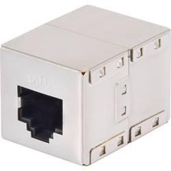 RJ45 adaptér sieťový Renkforce RF-4212189 CAT 6 [1x RJ45 zásvuka - 1x RJ45 zásvuka] kov