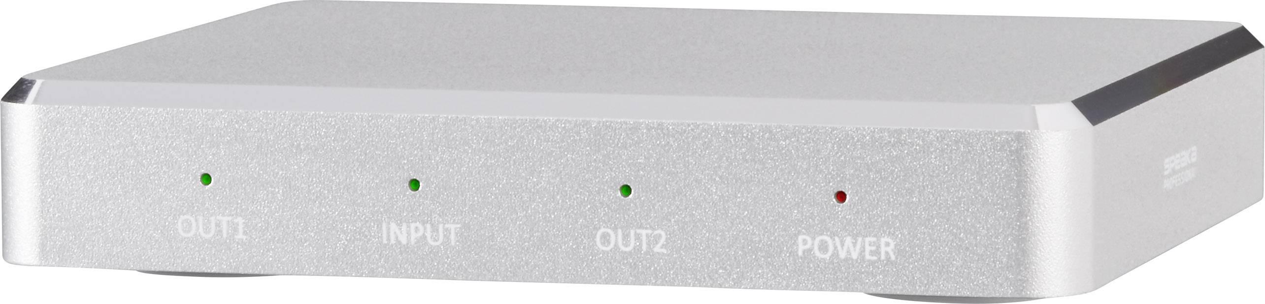HDMI rozbočovač SpeaKa Professional s hliníkovým krytem, UHD N/A, 2 porty