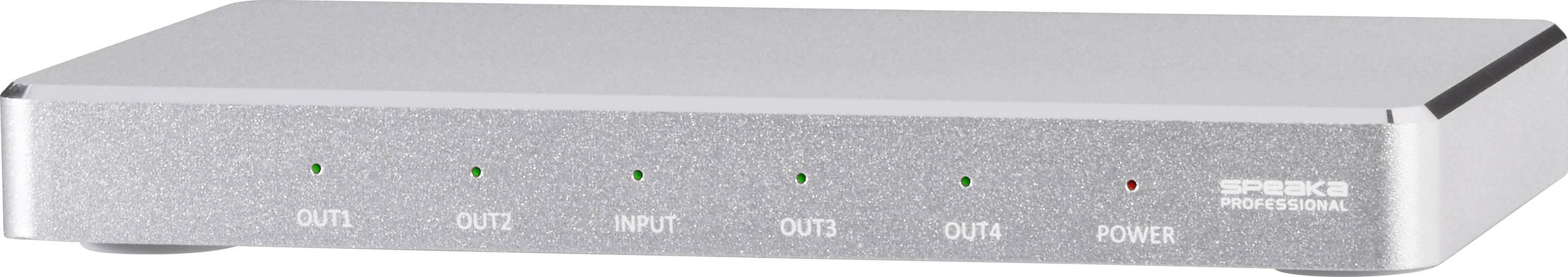 HDMI rozbočovač SpeaKa Professional s hliníkovým krytem, UHD N/A, 4 porty