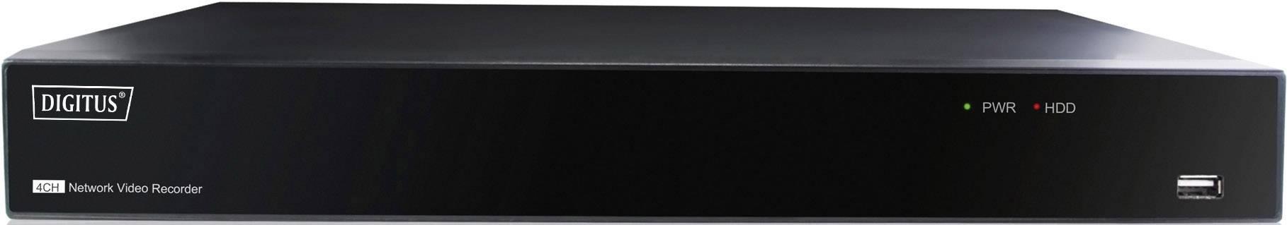 Sieťový IP videorekordér (NVR) pre bezp.kamery Digitus Plug-N-View DN-16150_1, 4-kanálový