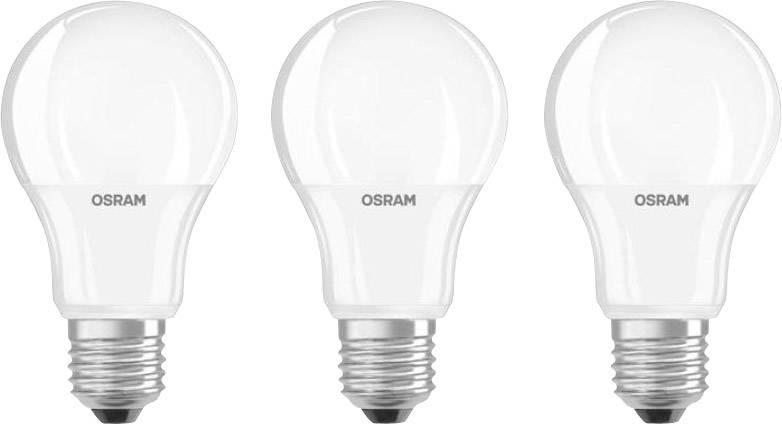 LED žárovka OSRAM 4052899955523 E27, 9 W = 60 W, teplá bílá, A+ (A++ - E), 3 ks