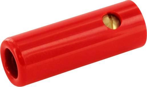 Banánový konektor econ connect BAK4SRT – zásuvka, rovná, Ø hrotu: 4 mm, červená, 1 ks