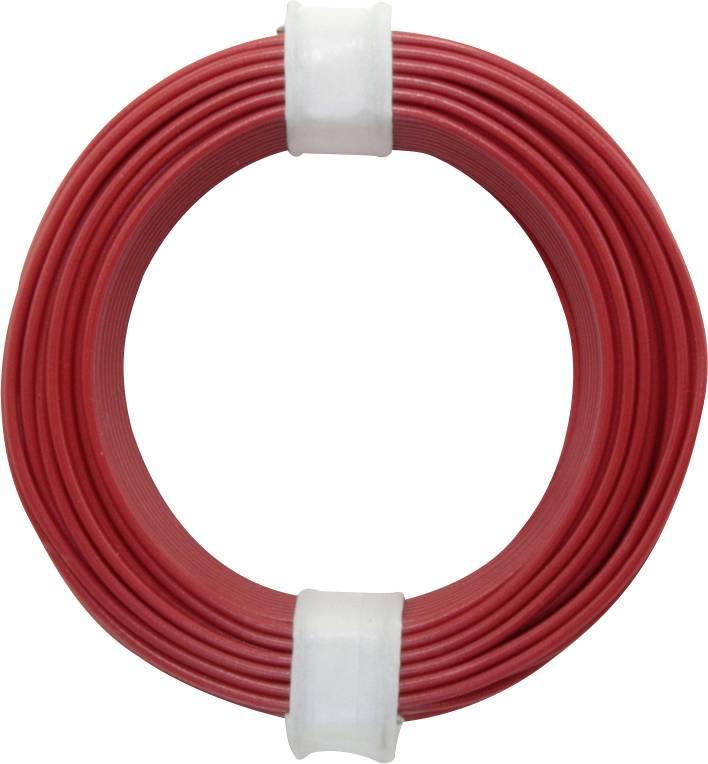 Spojovací drôt BELI-BECO D 105/10 1 x 0.20 mm², vonkajší Ø 0.50 mm, 10 m, červená