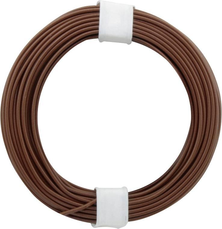Spojovací drôt BELI-BECO D 105/10 1 x 0.20 mm², vonkajší Ø 0.50 mm, 10 m, hnedá