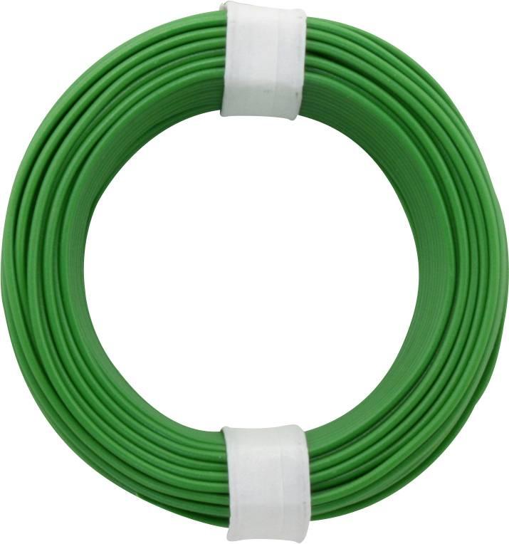 Spojovací drôt BELI-BECO D 105/10 1 x 0.20 mm², vonkajší Ø 0.50 mm, 10 m, zelená