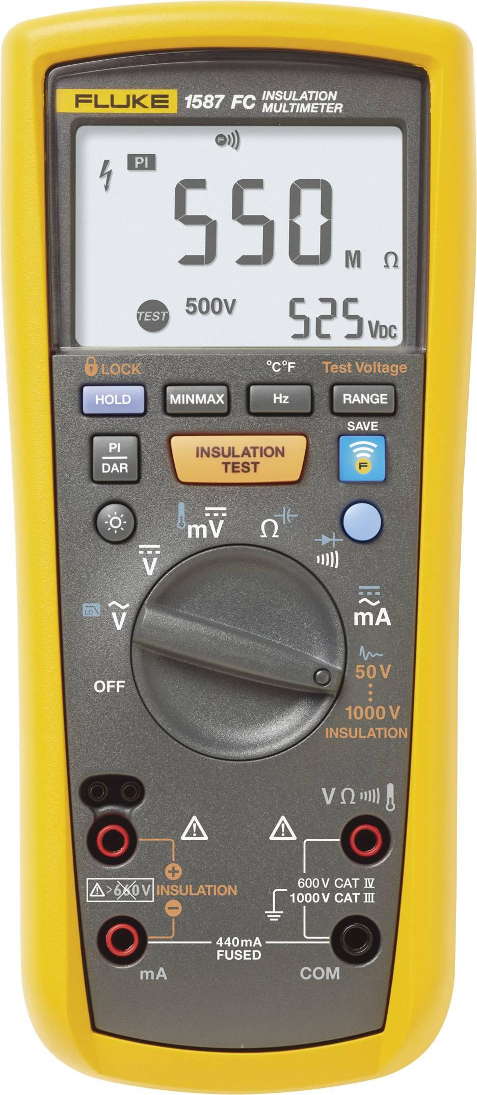 Měřič izolačního odporu s multimetrem 1587 FC 0,01 MΩ - 2 GΩ