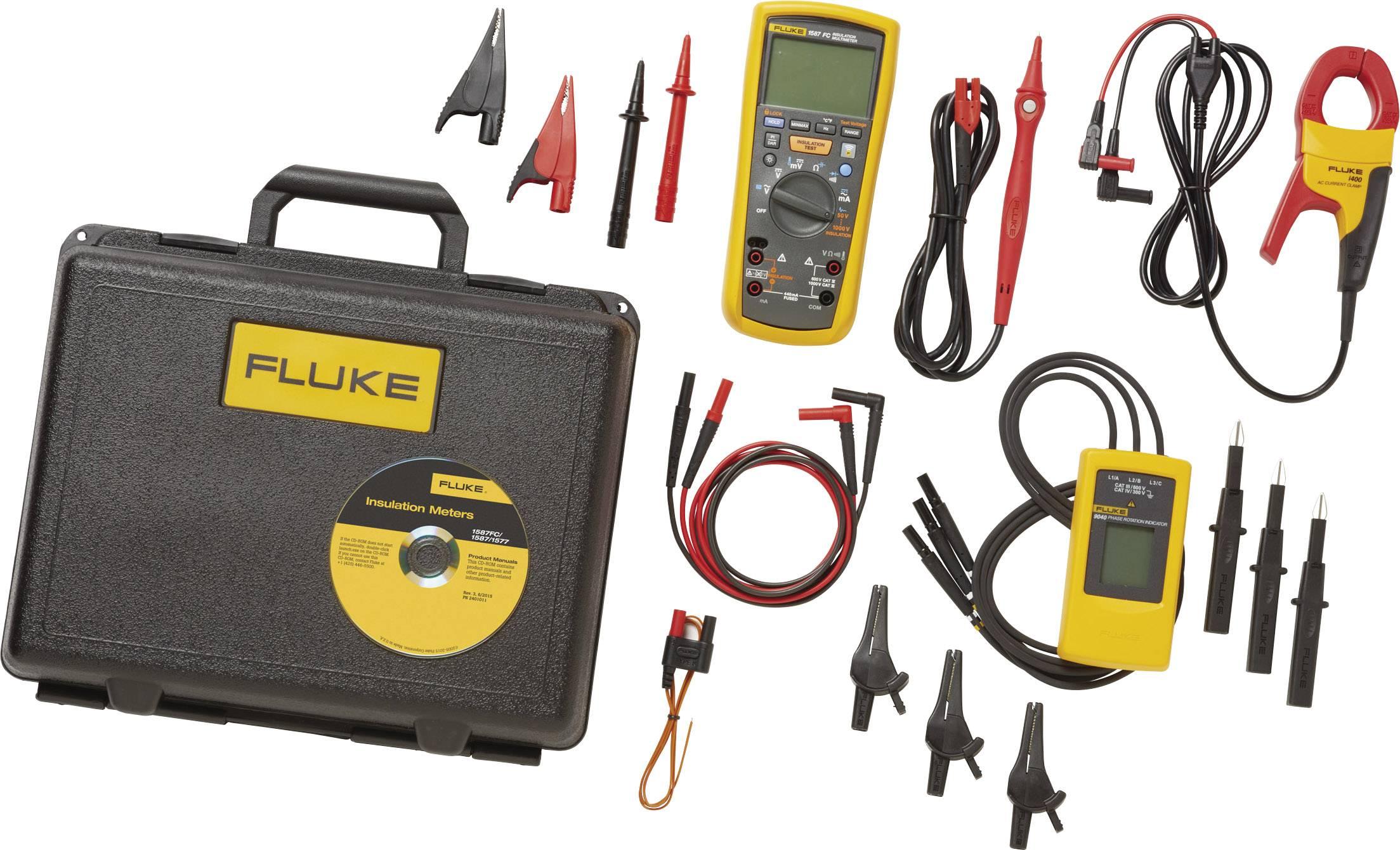Sada multimetru Fluke s funkcí měření izolace Fluke 1587/MDT FC, Kalibrováno dle bez certifikátu