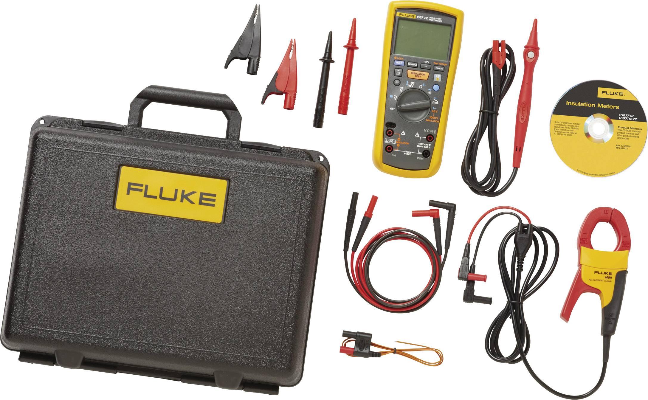 Sada multimetru Fluke s funkcí měření izolace Fluke 1587/I400 FC, Kalibrováno dle bez certifikátu